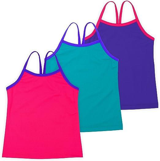 3 Pieces Girl Dance Tank Top Sleeveless Racerback Crop Tank Top Girl Dancewear for Ballet Dance