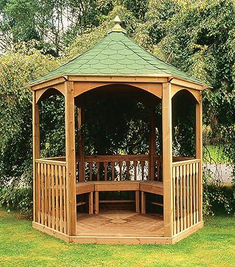 Kiosque Hexagonal en Bois pour le Jardin avec Plancher ...