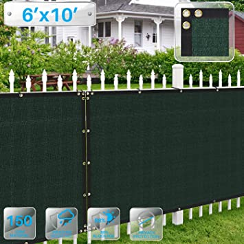 Amazon Com Patio Paradise 6 X 10 Dark Green Fence Privacy Screen Commercial Outdoor Backyard Shade Windscreen Mesh Fabric With Brass Gromment 88 Blockage 3 Years Warranty Customized Garden Outdoor