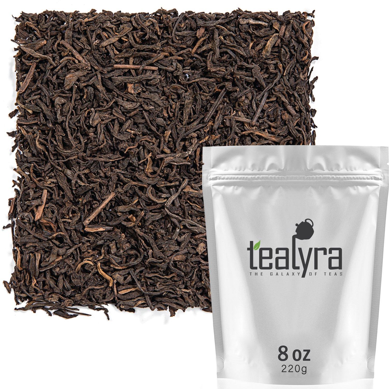 Tealyra - Ripe Pu'erh Tea - 5 Years Aged Loose Leaf - 100% Natural And Organic - Caffeine Level High - Lose Weight Tea - Aged Black Tea Pu Er - 220g (8-ounce)