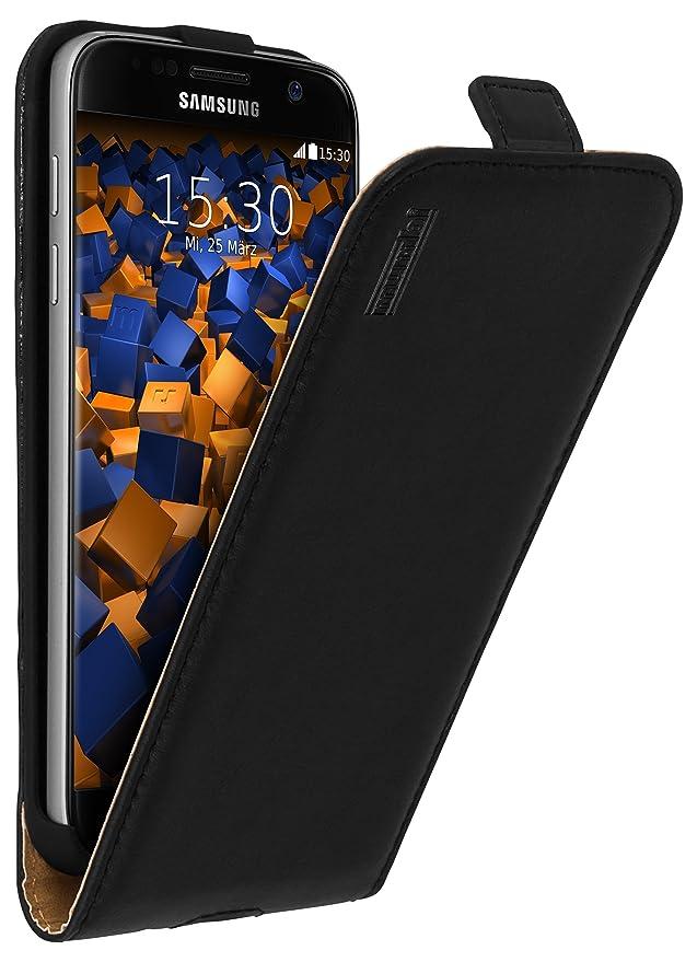 mumbi PREMIUM Leder Flip Case für Samsung Galaxy S7 Tasche