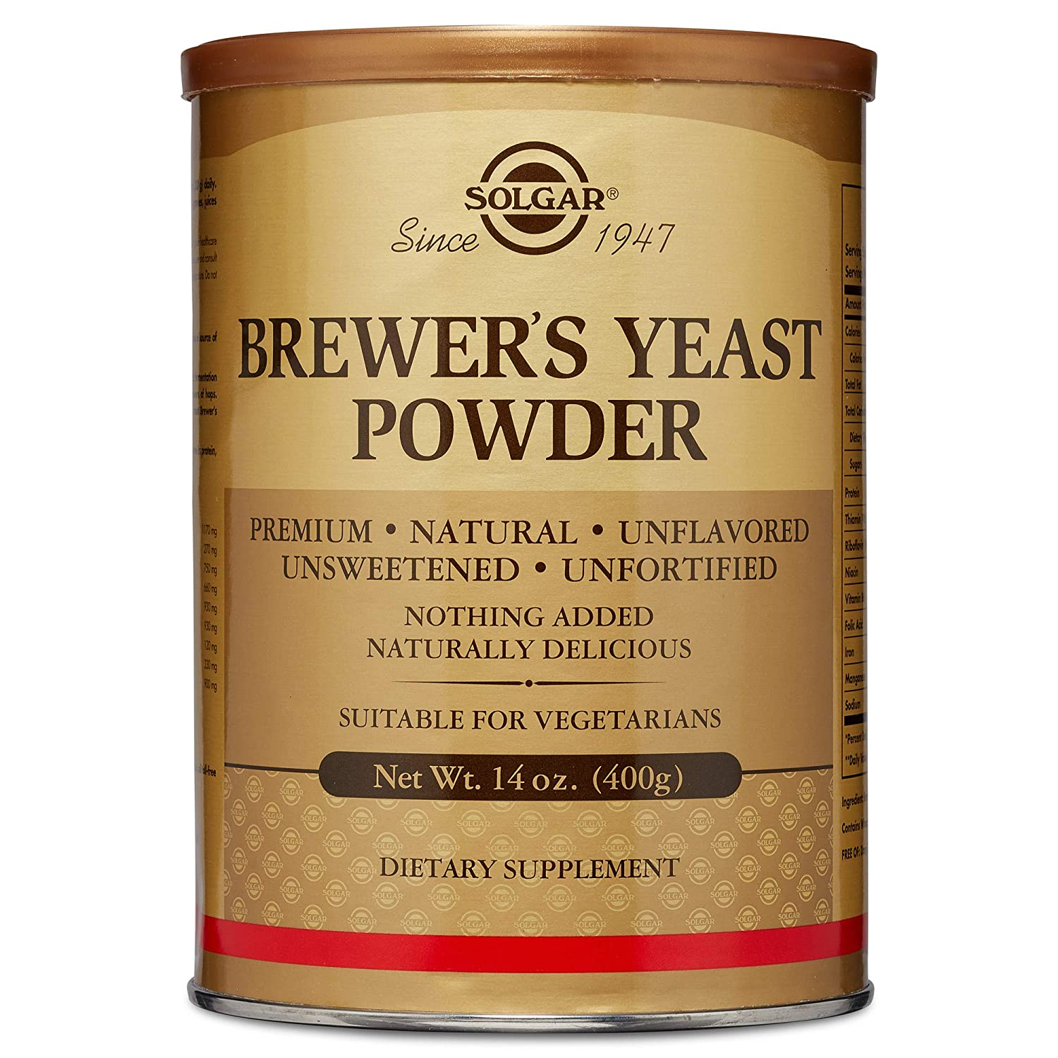 Solgar – Brewer s Yeast Powder 14 oz Supports Heart Digestive Health – 2 Pack