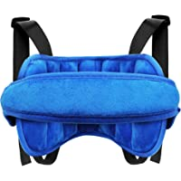 Lamavido Baby Seat Head Support Band Protection Neck Relief for Toddler Baby Kids Carseat Straps Covers (Blue)