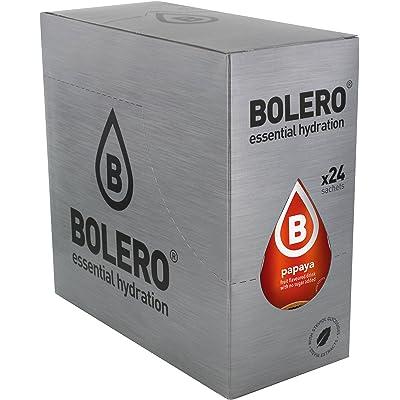 Bolero Bebida Instantánea sin Azúcar, Sabor Papaya - Paquete de 24 x 9 gr - Total: 216 gr