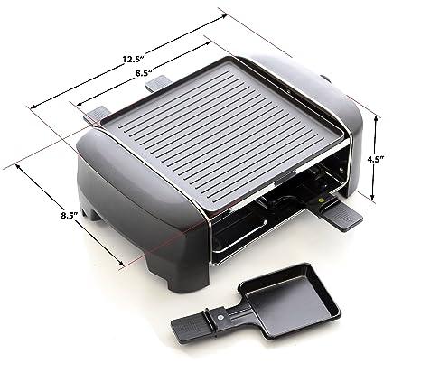 Amazon.com: Parrilla Milliard Raclette para cuatro personas ...