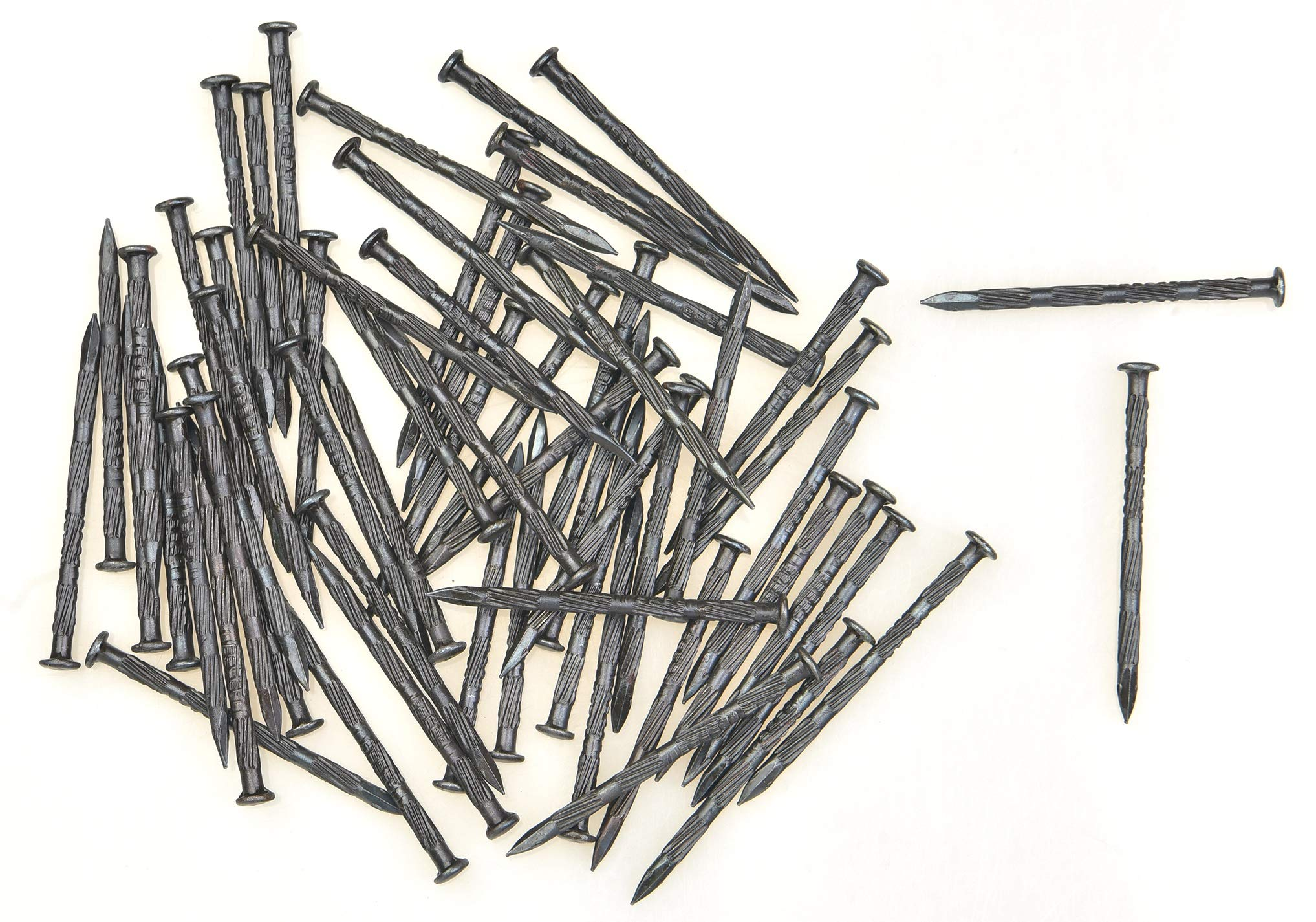 4x70 mm - 2.7 inch Hardened High carbon steel nails for masonry and metal plates 200 pcs (2.71 lb.) by Ozcan Steel Nail