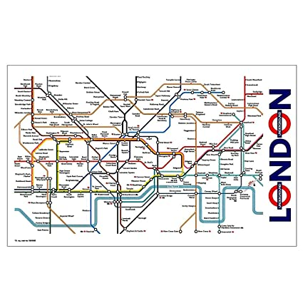 Transport For London Map.London Underground Transport For London Tube Map Tea Towel Complete