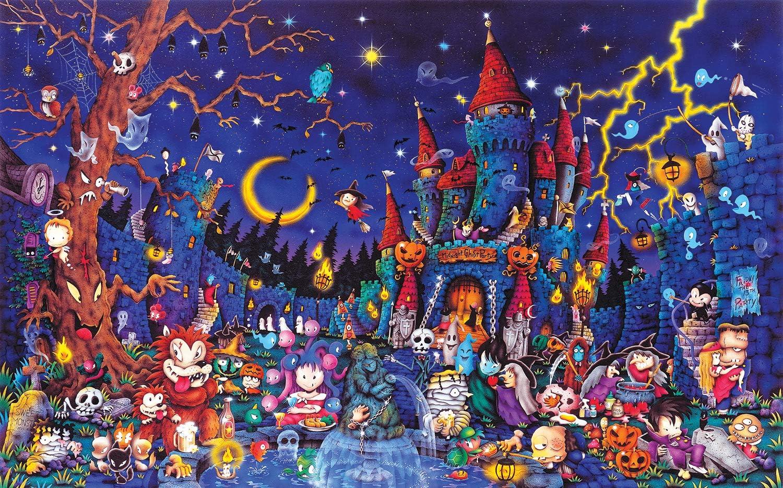 SUNSOUT INC Spooky Night 300 pc Jigsaw Puzzle
