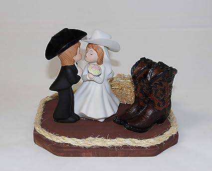 2b95261fcf9 Amazon.com: Wedding Western Reception Party Cowboy Boots Kissing ...