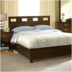 Modus Furniture RV26F7 Riva Platform Bed, King, Chocolate Brown