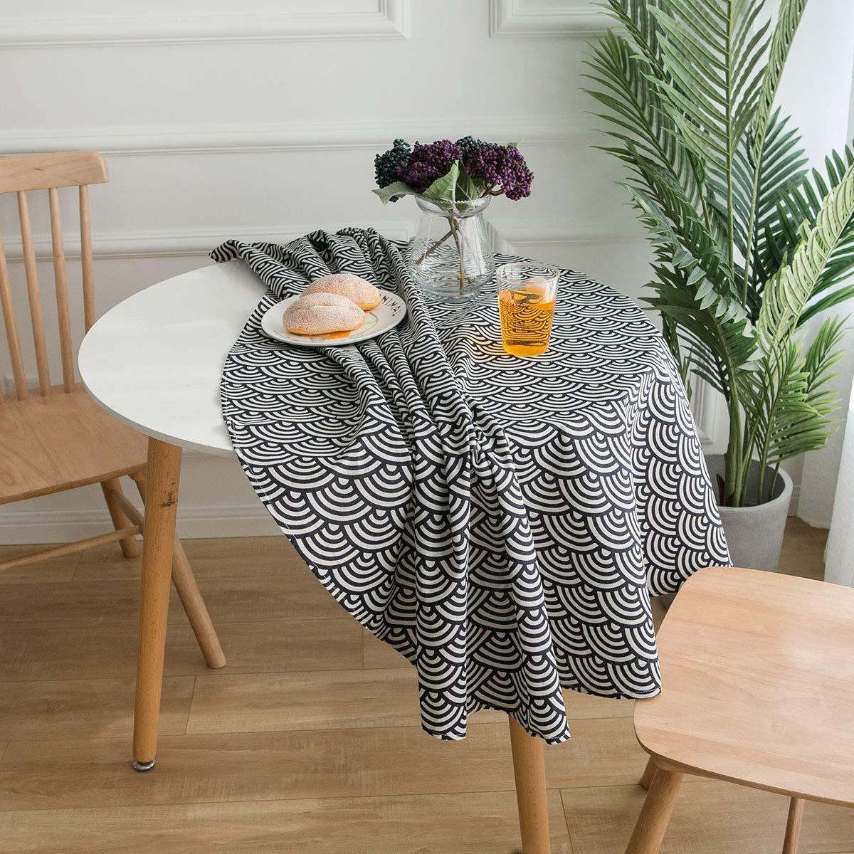 japon/és Estilo Pastoral Fresco Mantel Mantel Ronda literaria Table Cloth Nuevo Peque/ño Ronda Mantel rom/ántico y c/álido 150cm F/ácil de Limpiar