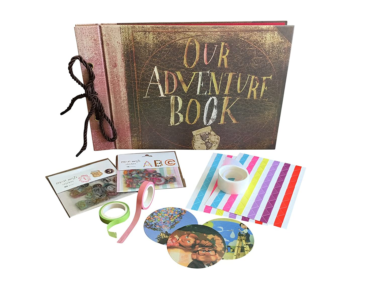 Our Adventure Book - Up Pixar Movie DIY Scrapbook With Glue Dots, Letter,  Number and Assorted Corner Stickers  Create the Perfect Family,  Anniversary,