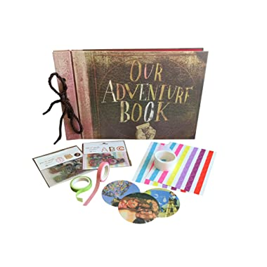 Our Adventure Book - Up Pixar Movie DIY Scrapbook With Glue Dots, Letter, Number and Assorted Corner Stickers. Create the Perfect Family, Anniversary, Wedding or Birthday Photo Album