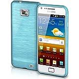 Samsung Galaxy S2 Hülle Silikon Türkis [OneFlow Brushed Back-Cover] TPU Schutzhülle Ultra-Slim Handyhülle für Samsung Galaxy S2 / S2 Plus SII Case Dünn Silikonhülle Rückseite Tasche