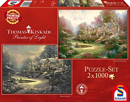 Thomas Kinkade Puzzle 1000 Teile Spiel Deutsch 2015 Im Naturparadies