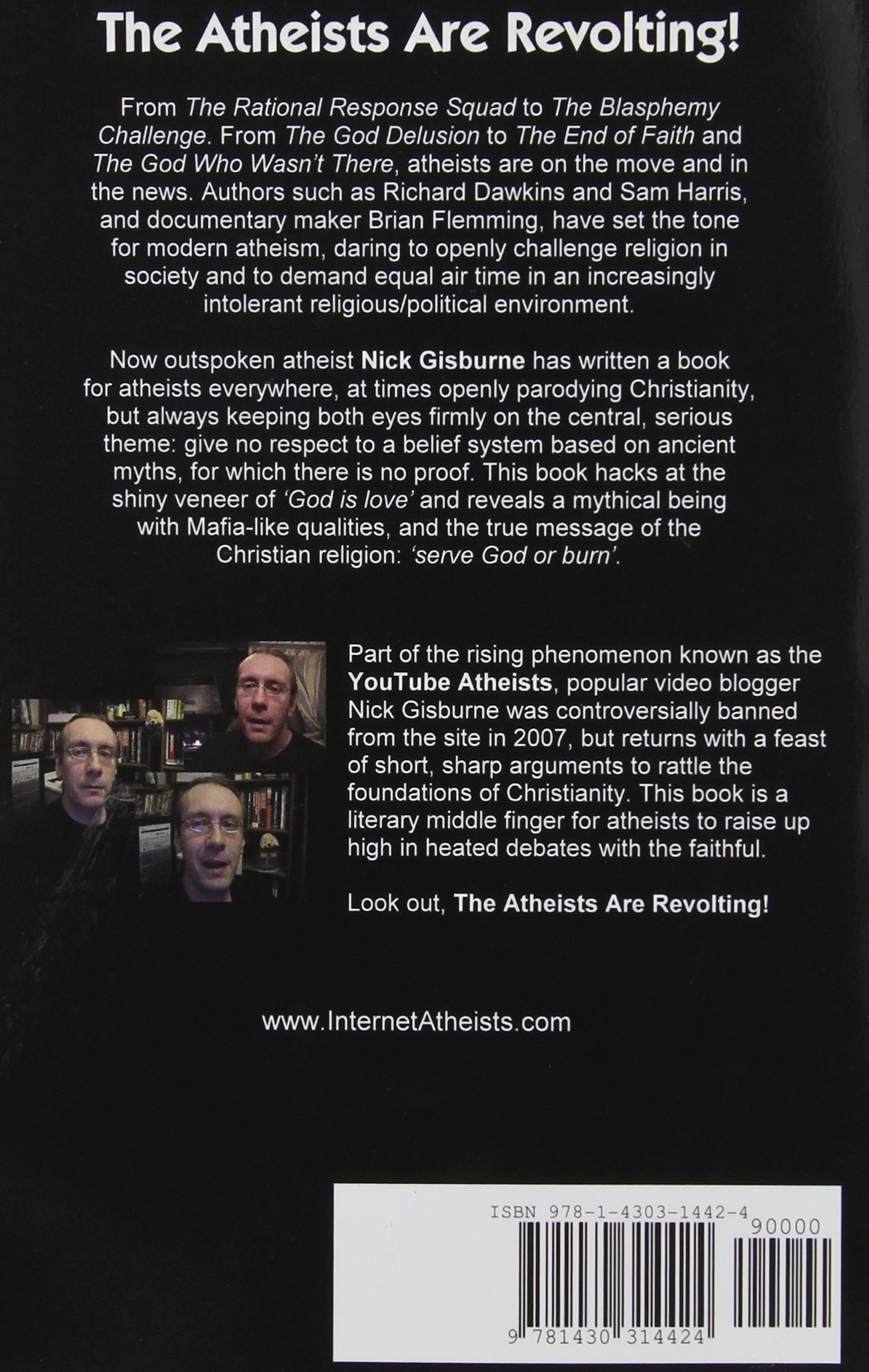 the atheists are revolting nick gisburne 9781430314424 amazon