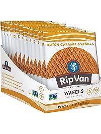 Rip Van Wafels Snack Wafels, Dutch Caramel & Vanilla, 12 Count, 13.92 oz (PACKAGING MAY VARY)
