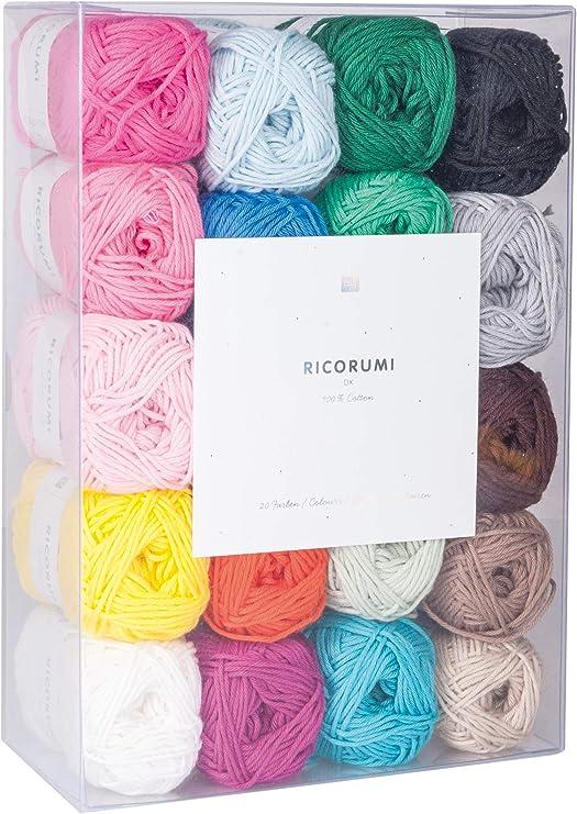 ricorumi Set hilos de algodón en 20 COLORES, A 25g: Amazon.es: Hogar