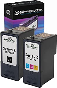 Speedy Inks Remanufactured Ink Cartridge Replacement for Lexmark #3 & #2 (1 Black, 1 Color, 2-Pack)