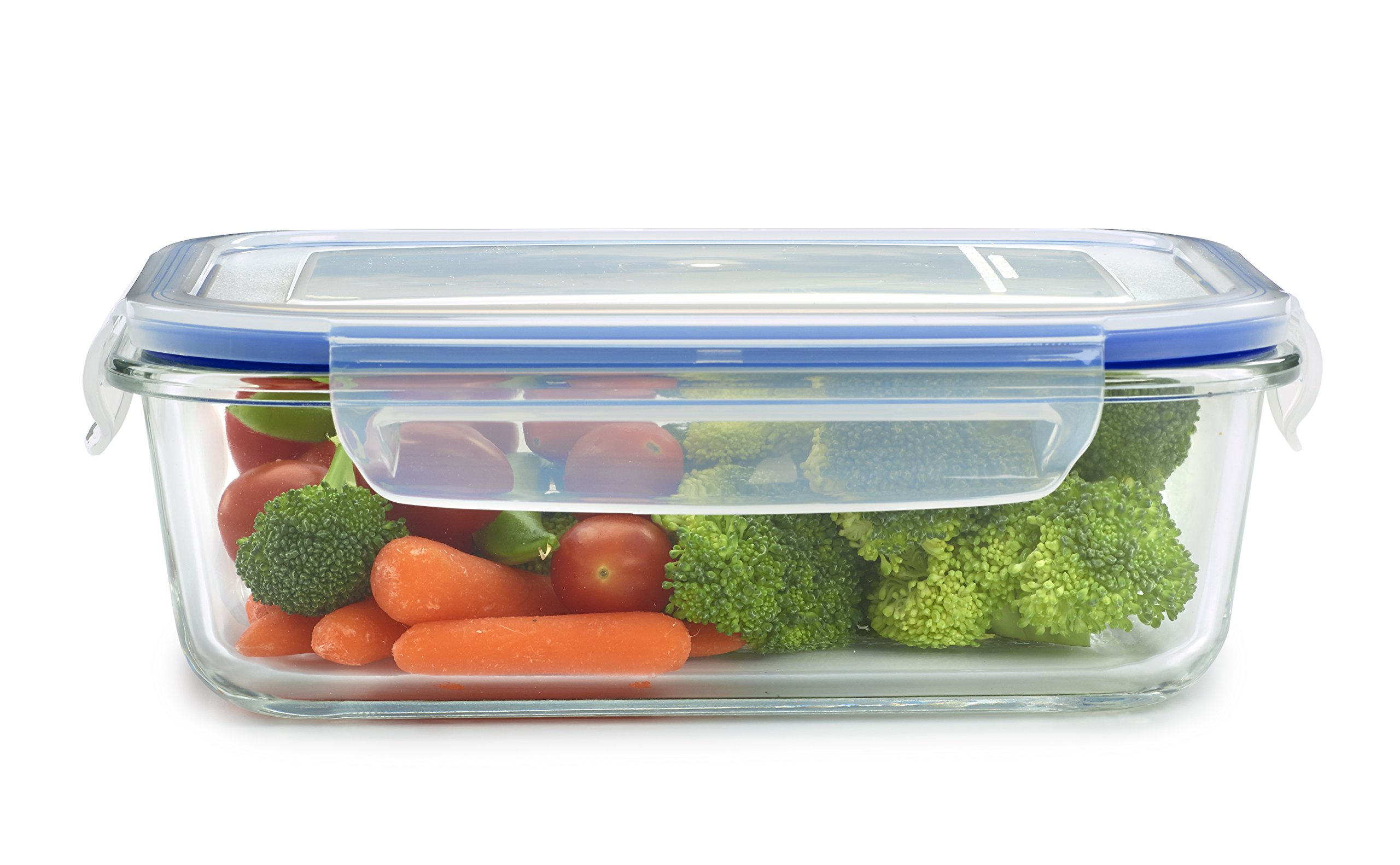 18 Piece Glass Food Storage Container Set - BPA Free - Use for Home, Kitchen and Restaurant - Snap On Lids Keep Food Fresh with Airtight Seal Safe for Dishwasher by 1790 (Image #3)