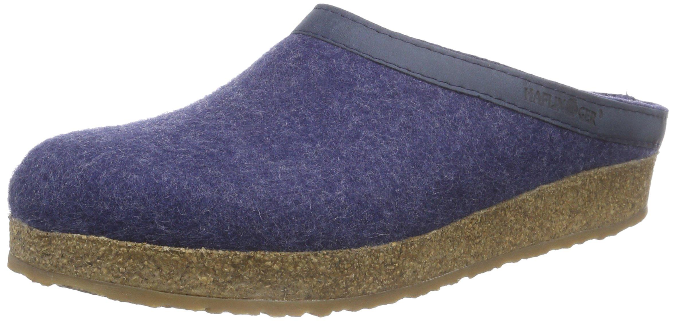 Haflinger 713001 Slippers, Filztoffel Grizzly Torben, Jeans, Gr 43
