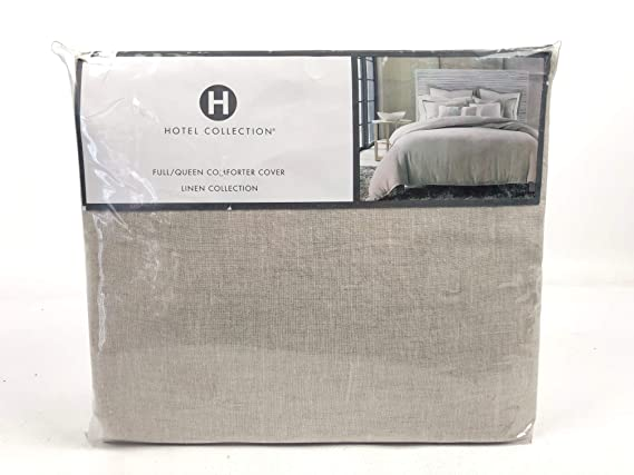 Amazon.com: Hotel Collection Linen Natural Full / Queen Duvet Cover Solid Beige: Home & Kitchen