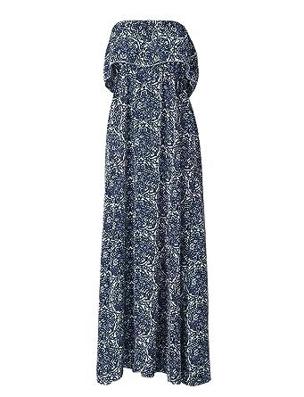 Très Chic Mailanda Sommerkleid Damen Partykleid Lang Chiffon High Waist  Striped Sleeveless Beach Kleid Elegant ( a844352fcd