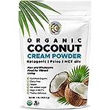 Earth Circle Organics - Organic Coconut Cream   Milk Powder, Perfect Keto Coffee Creamer - High in MCT Oil, Vegan, No Added Sugar, Gluten and Dairy Free - 1 Pound
