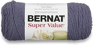 Bernat Super Value Yarn, 5 oz, Steel Blue Heather, 1 Ball