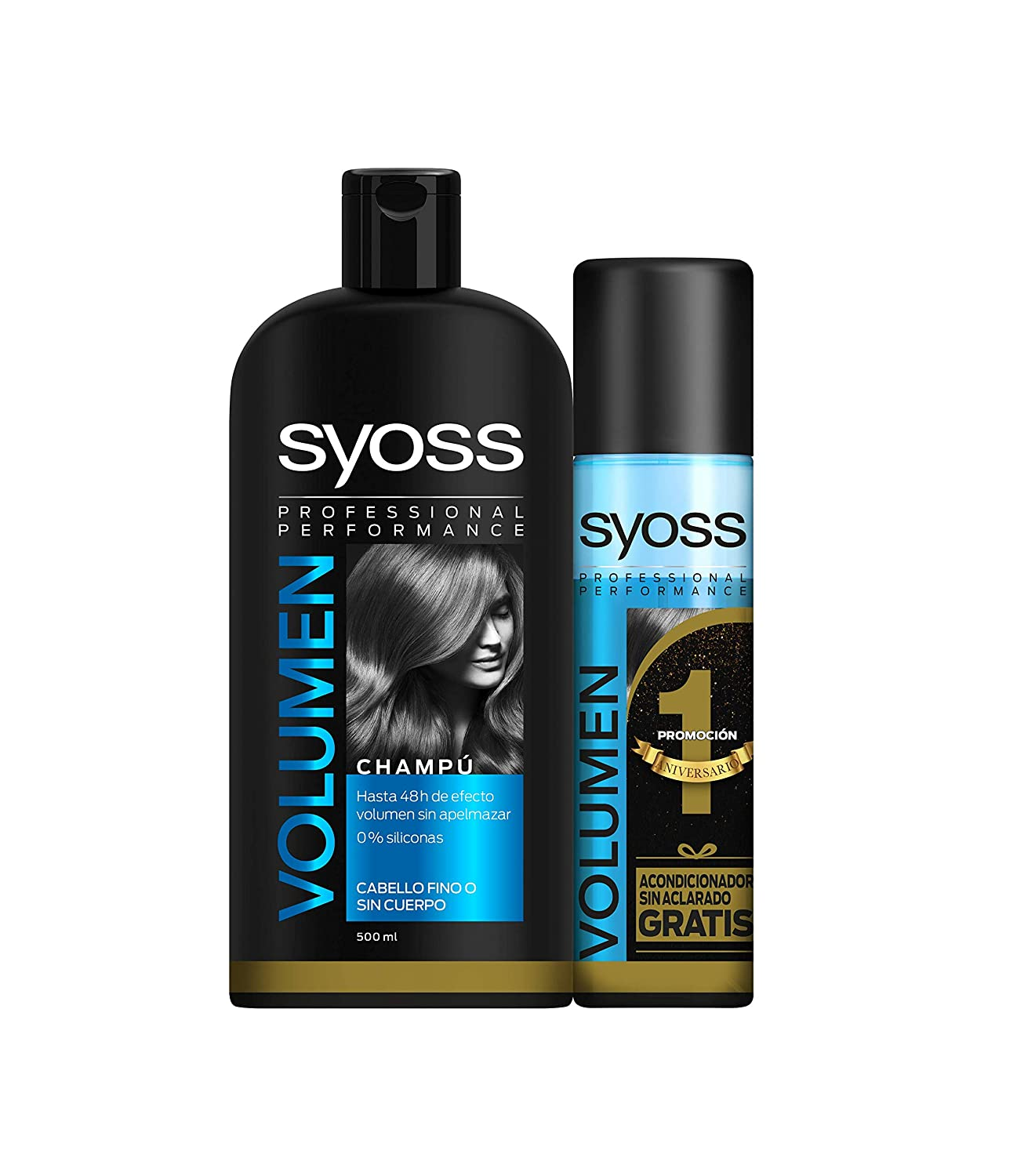 Syoss - Champú 500ml + Acondicionador Volumen 200ml