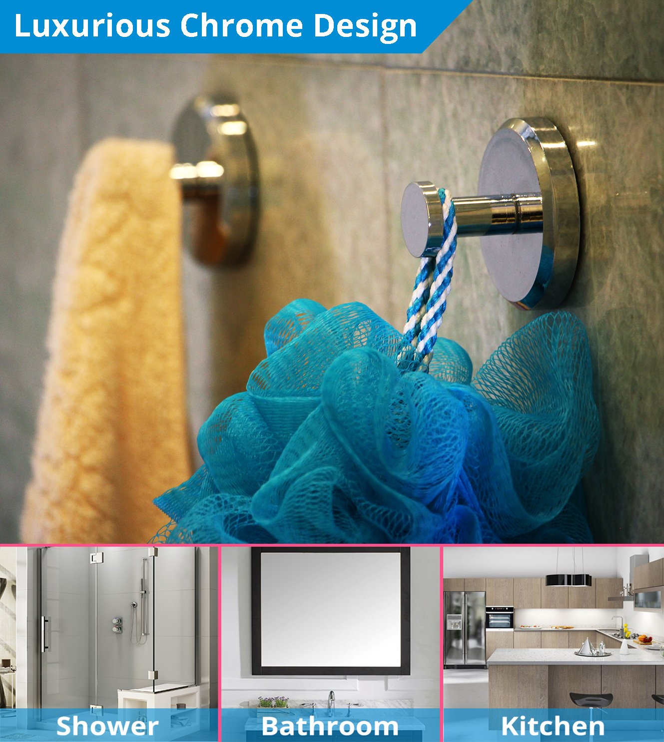 Amazon.com: HOME SO Bathroom Hook with Suction Cup Holder ...
