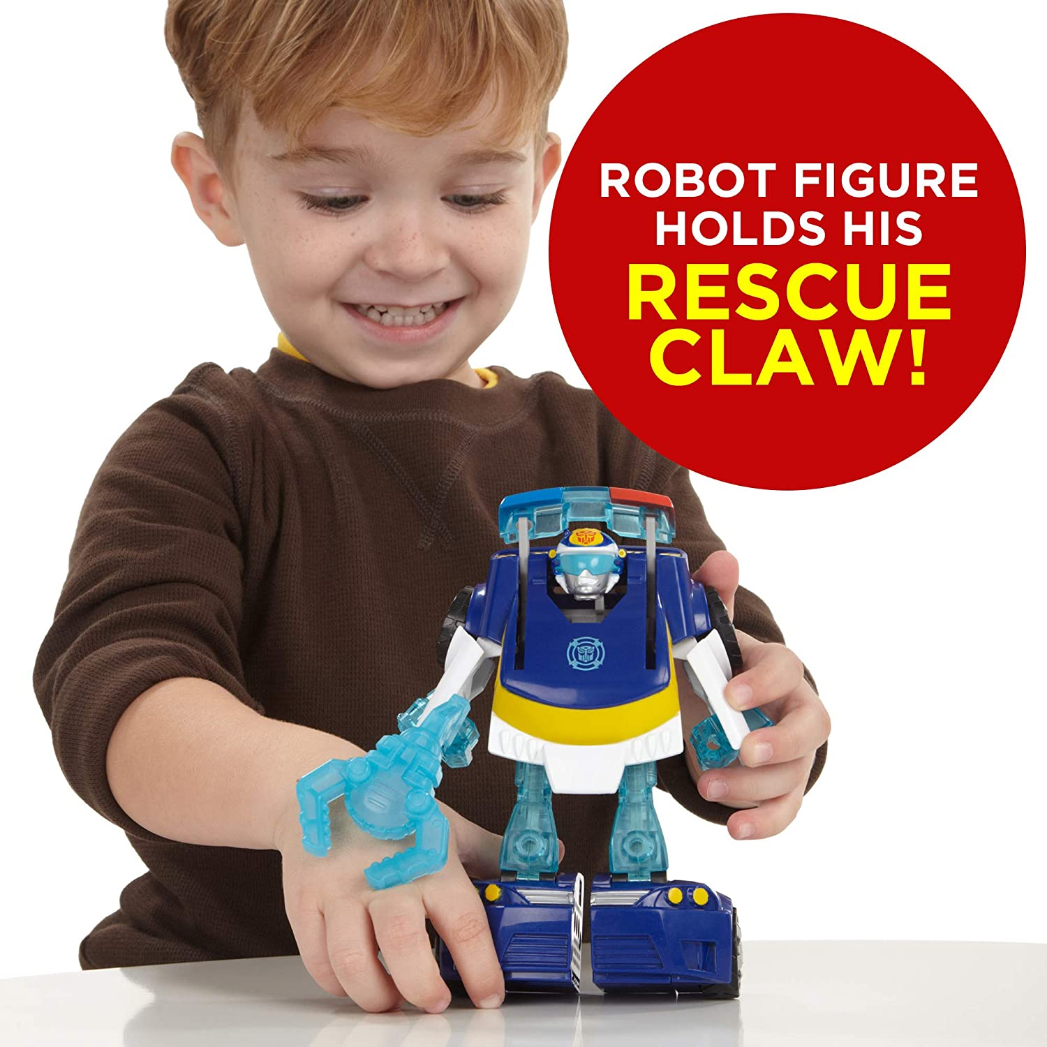Exclusive Playskool Heroes Transformers Rescue Bots Energize Chase the Police-Bot Action Figure Ages 3-7