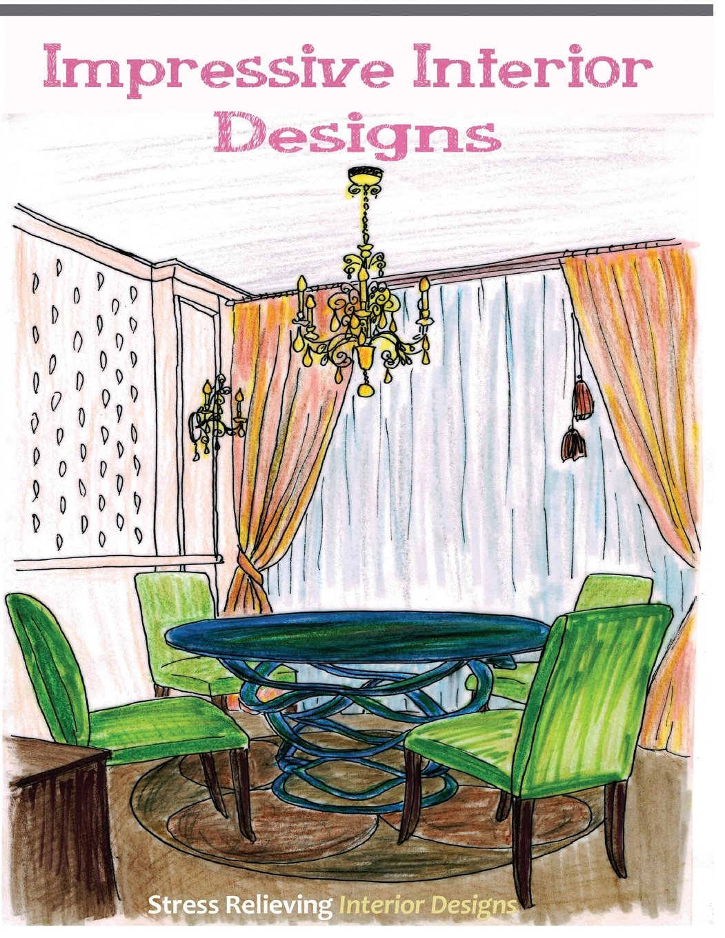 impressive interior designs adult coloring books featuring stress relieving interior designs