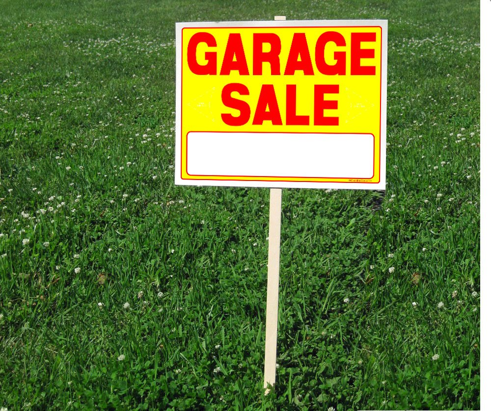 A804G Garage Sale Sign Kit with Price Stickers and Wood Sign Stakes