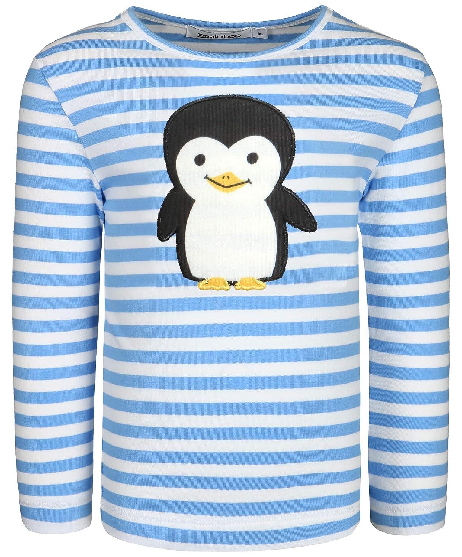 zoolaboo, Jungen Langarmshirt Pinguin Puck