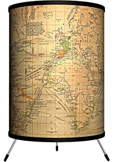 Travel old world map sport silver lamp table lamps amazon lamp in a box tri trv oldwo travel old world gumiabroncs Images