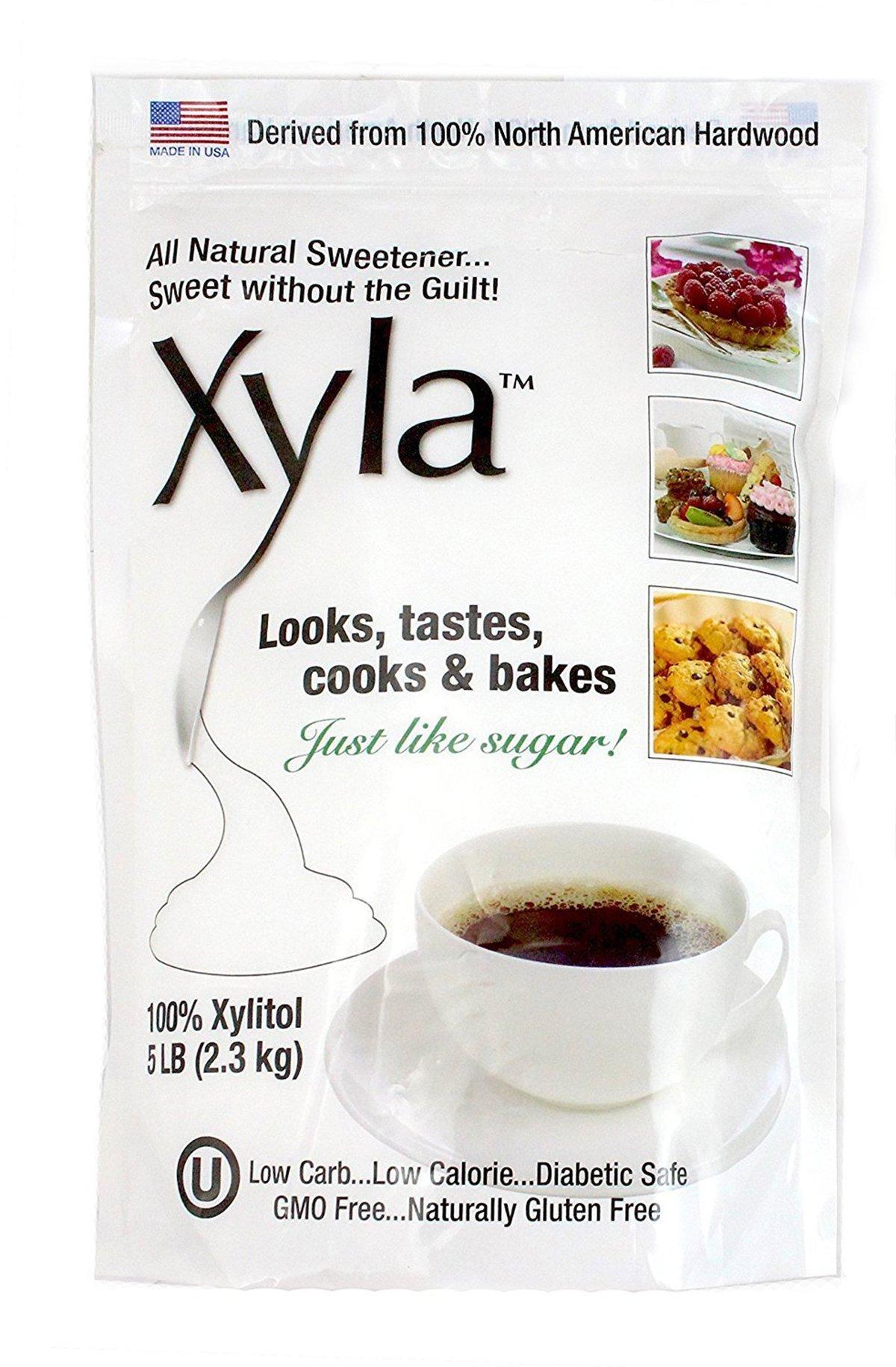 Xyla Xylitol North American Birch Xylitol Sweetener 5 Pound Bag