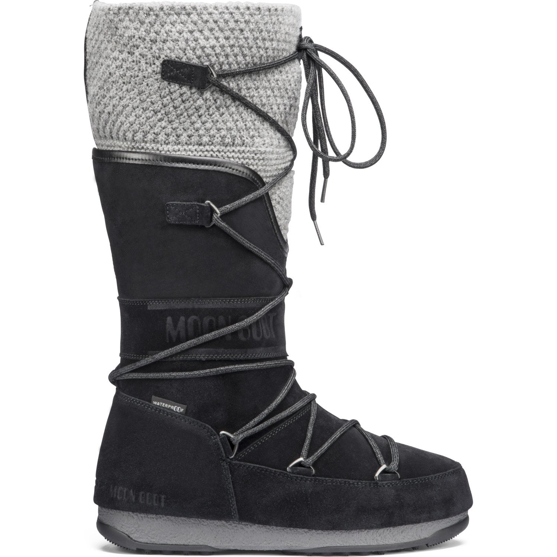 Marques Chaussure femme Moon Boot femme anversa wool Black/grey