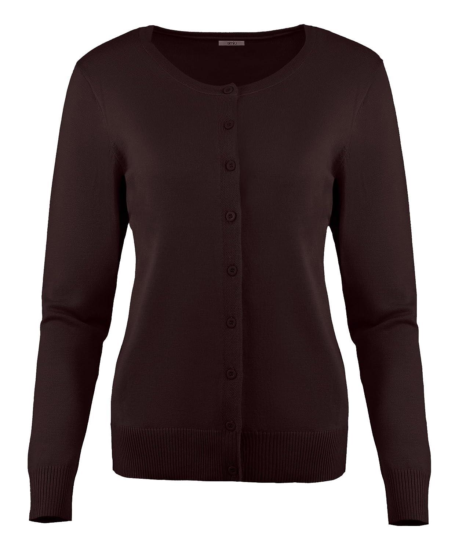 Simlu Sweater Cardigan For Women Crew Neck, V Neck Cotton Long ...