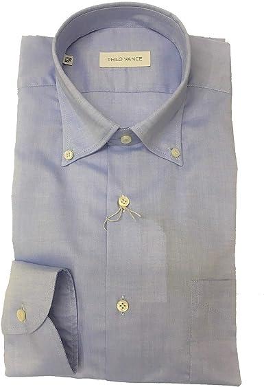 Philo Vance - Camisa b.Down Art.Francia Col.22 Azul Azul Claro 42: Amazon.es: Ropa y accesorios
