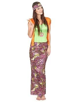 Disfraz de hippie mujer M / L: Amazon.es: Juguetes y juegos