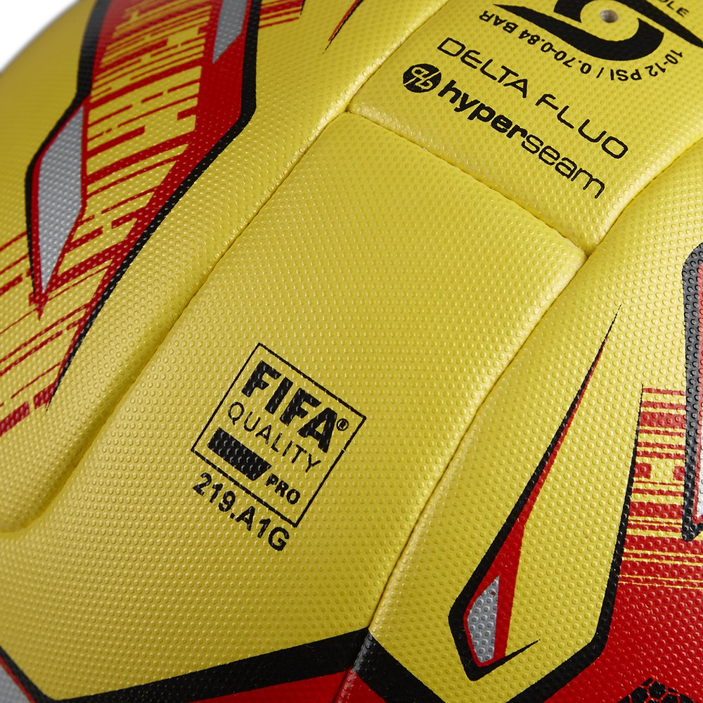 Mitre Delta Hyperseam Professional Football - Yellow/Red/Black/EFL ...