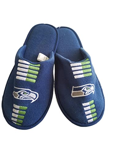 9c1d0f84 Slippers Seattle Seahawks Mens Team Scuff Slide (Large 11-12, Blue ...