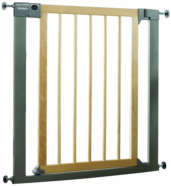 lindam sure shut deco pressure fit safety gate     cm (wood  - lindam sure shut deco pressure fit safety gate     cm (wood andmetal) amazoncouk baby