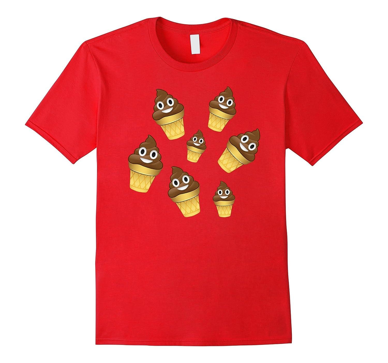 Poop Emoji Ice Cream Fun Whacky Shirt Pile Of Poo Kids Women Rt