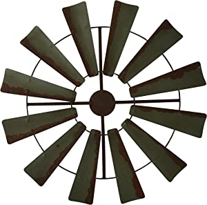 Boston Warehouse Rustic Farmhouse Full Windmill Wall Decor