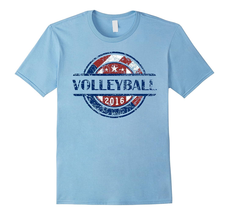 American Flag Volleyball 2016 Shirt USA Gift VB Team-CD