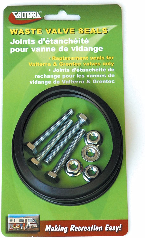 "B0006N5S1C Valterra Black 3"" T1003-7VP Waste Valve Seal with Hardware-3"", Pack of 2 81oJ2BZ-TRFL"