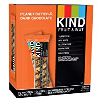 KIND Peanut- Butter Dark Chocolate - High Protein and All Natural - 12 x 40g bar