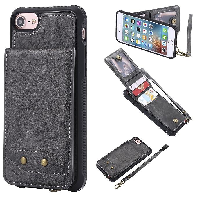 Amazon.com: iPhone 7/8 funda portafolios, funit [Premium ...